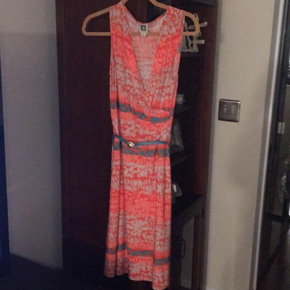 Anne Klein Dresses & Skirts - Anne Klein orange patterned dress size small